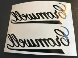 2 sticker autocollant cromwell moto tuning casque