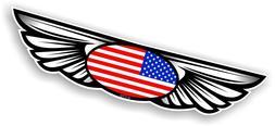 a ailes embleme and americain nous drapeau