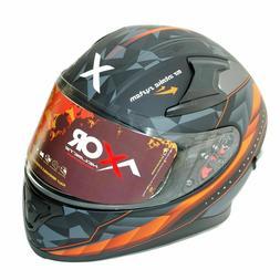 Axor Crazy Complet Visage Moto Casque Anti-buée Fonction Vi