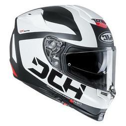 Casque de Moto Intégrale HJC Rpha 70 Balius MC10SF Blanc/No