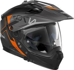 Casque de Moto Nolan N70-2 X Bungee 37 Noir Mat Orange L Mod