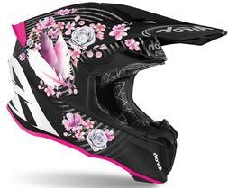 Casque Femme Moto Cross Airoh Twist 2.0 Mad FLEURS XS Lady H