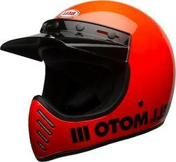 Casque Helmet Bell Moto-3 Brillant Orange 7081029 Taille M R