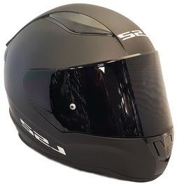 LS2 Casque Intégral Moto Noir Mat Avec Noir Foncé Teinté