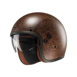 HJC Casque Jet Moto Vintage Braun Matt Fg 70S Helmet