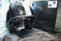 Moto Guzzi Casque Jet Taille  L 606072M04BS Noir Rayures Vin