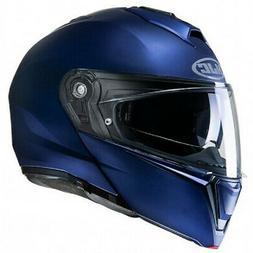 HJC Casque MODULABLE i90 UNI BLEU FLAT METALIC BLUE MOTO SCO