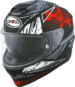 CASQUE Moto Intégral SUOMY Stellar Phantom Noir rouge Matt