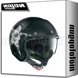 NOLAN CASQUE MOTO JET N21 STAR SKULL FLAT NOIR 070 XS
