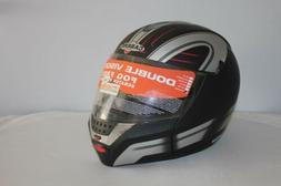 CASQUE Moto Modulable CABERG - 104 Justissimo -  Argent Noir