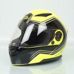 Casque moto modulable One Outline 2.0 jaune noir homme femme