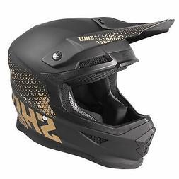 Casque Moto Motocross/ATV Cross Shot Raw Doré Mat