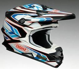 Casque Moto Motocross/ATV Cross Shoei VFX-W Bleu Brillant