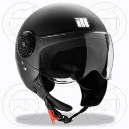 Motocubo Casque Jet Moto Scooter Homme/Femme Approuvé ECER-