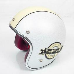 Casque bol jet Torx Wyatt blanc beige mat Taille XS moto sco