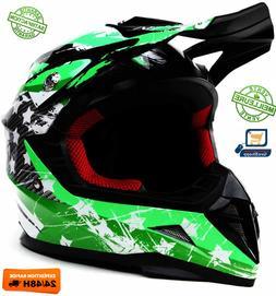 Casque Motocross Enfant ECE Homologué-YEMA YM211 Enduro Qua