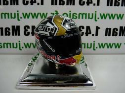 CM36 CASQUE MOTO GP 1/5  RARE ARGENT : MARC MARQUEZ 2012 Wor