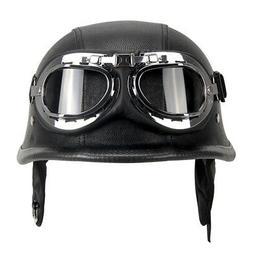 demi casque de moto de style allemand