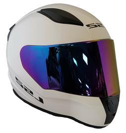 LS2 FF353 rapid Casque Moto Intégral Blanc + RAINBOW Violet