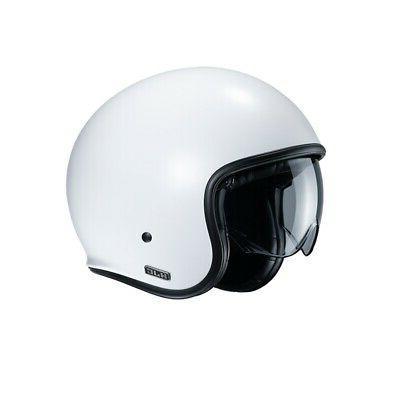 casque de moto v30 semi plat blanc