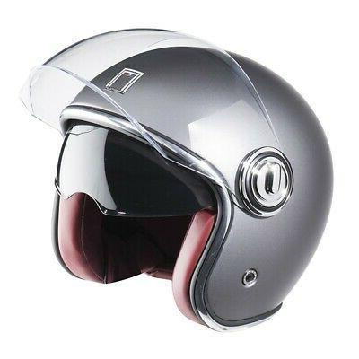 casque jet dv heritage titanium mat moto