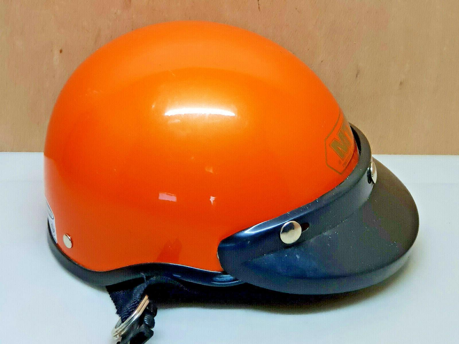 casque moto cyclomoteur marque safetymet orange taille