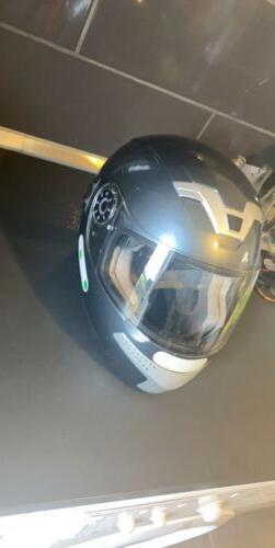 Casque Moto Marque Bullit Couleur Gris