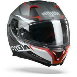 Nolan N87 Miles 87 Mat Lava Gris Rouge Blanc - Casque Moto -