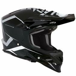 O'Neal 8SERIES Moto MX Casque Motocross Blizzard Noir/Gris X