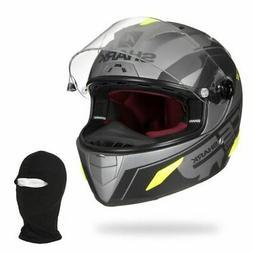 SHARK Casque moto intégral Race R Pro Sauer + Cagoule - Noi