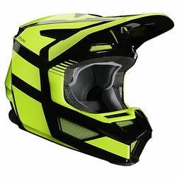 Fox Racing Youth V2 Hayl Casque Pour Moto - Flo Yellow Toute